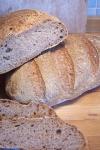 Whole wheat bread with Poolish
