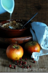 Apple casserole with rolled oat topping