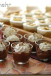 Creamy Chocolate Custard with whipped Cream