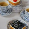 Berry tartlets with Elderflower Cream
