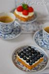 Berry tartlets with Elderflower Cream
