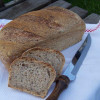 Multigrain bread with levain and prefermented dough