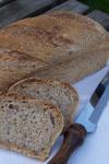 Multigrain bread with levain and prefermented dough