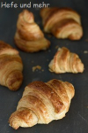 Croissants with sweet starter
