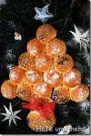 Brötchen -Weihnachtsbaum
