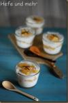 Apfel-Birnen-Grütze mit Vanillequark
