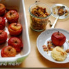 Bratäpfelchen mit Marzipaneis und karamellisierten Mandelblättchen