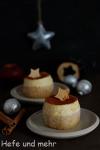 Weihnachtliche Zimtmousse-Törtchen mit Apfel-Curd