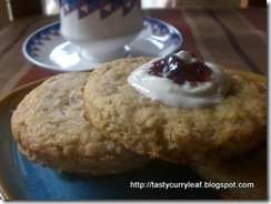 Cream and Ginger Scones