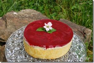 Weiße Schokoladenmousse Torte