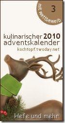 Kulinarischer Adventskalender 2010 mit Wettbewerb - Türchen 3