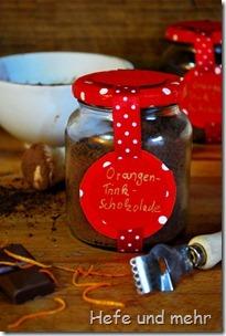 Orangentrinkschokolade