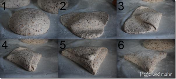 Wie man ein Dreick-Brot formt