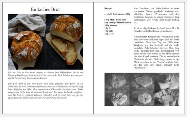 Brotbacken für Anfänger Layoutidee